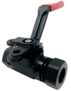 C-333ST 3-PIECE FORGED STEEL BALL VALVE 3000 WOG CLASS 1500 EXTENDED SOCKET WELD X THREADED ENDS ISO 5211 MOUNTING PAD