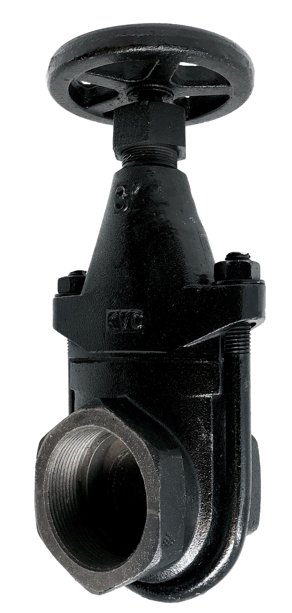 CGV-254T CAST IRON CLIP GATE VALVE THREADED ENDS RISING STEM