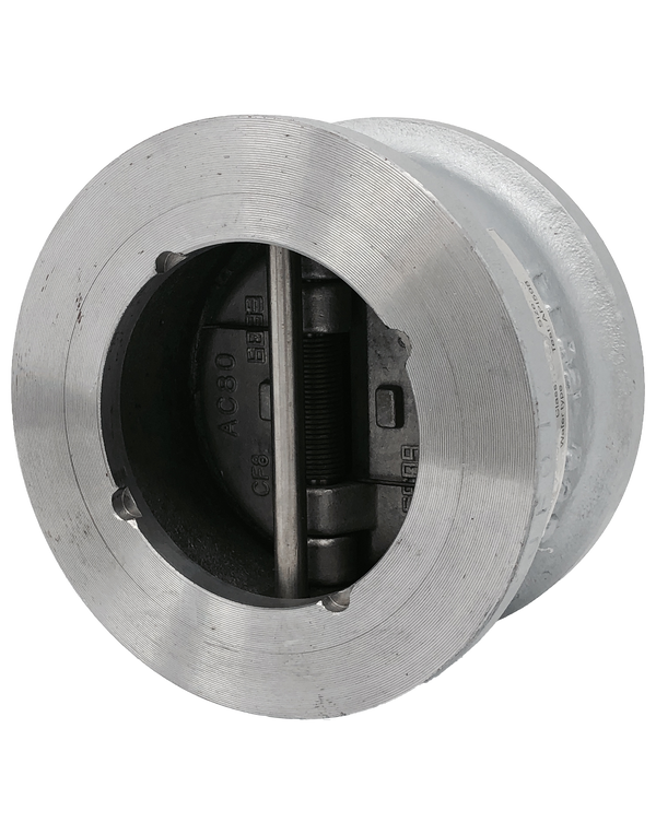 DC-750 CLASS 150 - 2500 CAST STEEL CHECK VALVE WAFER STYLE DUAL DOOR