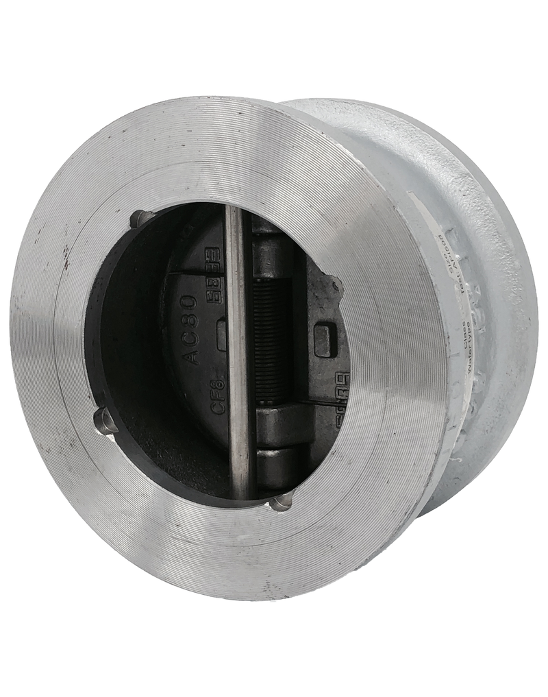 DC-750 CLASS 150 CAST STEEL CHECK VALVE WAFER STYLE DUAL DOOR