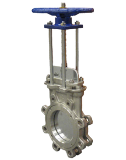 KNGV150L-SS CLASS 150 STAINLESS STEEL GATE VALVE BI-DIRECTIONAL KNIFE GATE VALVE LUG STYLE SS BODY