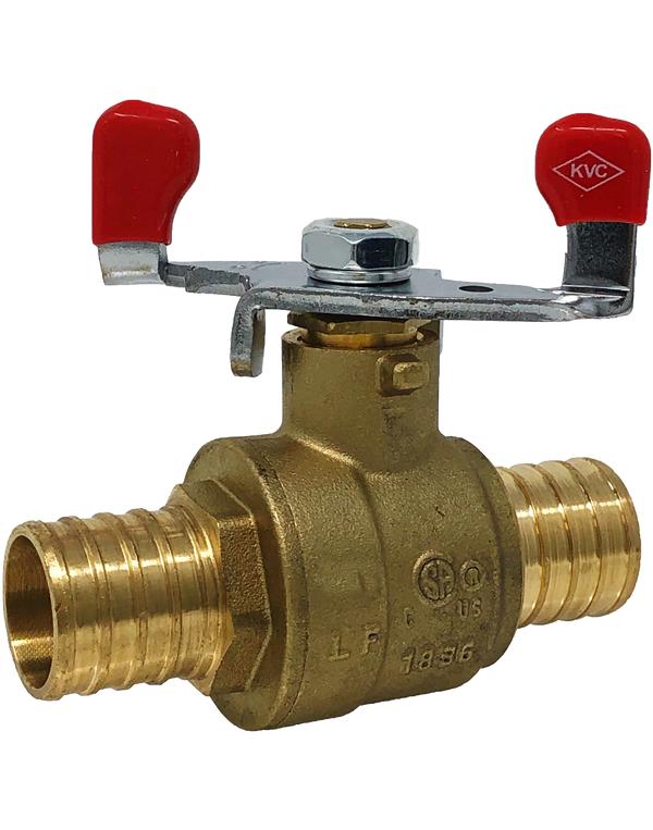 NL-PB170W LEAD FREE 600 WOG FULL PORT BRASS BALL VALVE PEX*PEX WING HANDLE