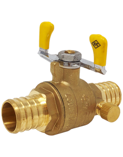 NL-PB1711W LEAD FREE 600 WOG FULL PORT BRASS BALL VALVE PEX*PEX WING HANDLE