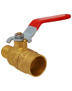 PF180L 400 WOG FULL PORT BRASS BALL VALVE PEX x SOLDER  LEVER HANDLE