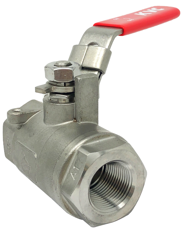 S-203TWL 3000 WOG 2-PIECE STAINLESS STEEL BALL VALVE THREADED ENDS W/LOCKING LEVER HANDLE