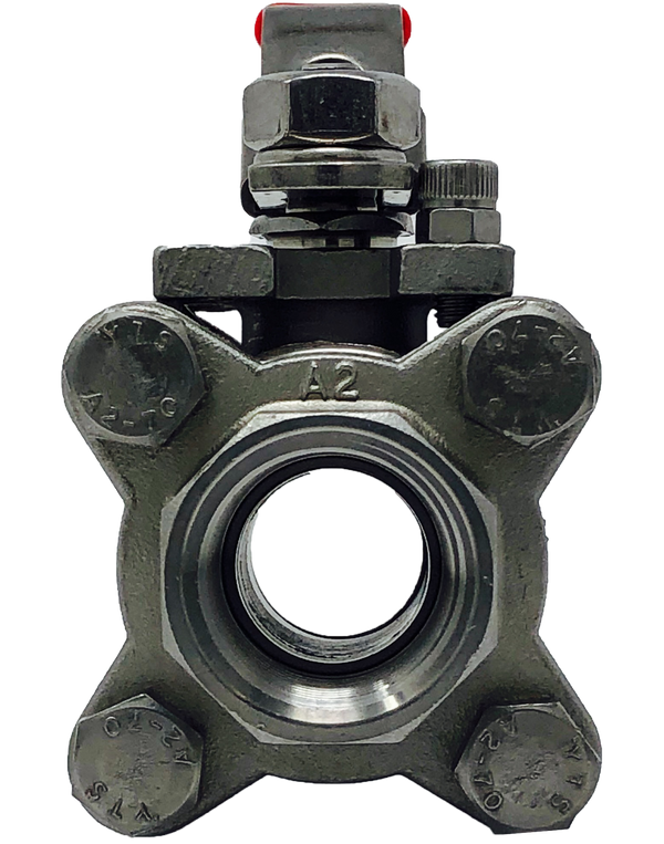 "S-332T 3-PIECE FULL PORT STAINLESS STEEL BALL VALVE THREADED ENDS, 1/4"" TO 2"": 2000 WOG 2 1/2"" TO 3"":1500 WOG ISO 5211 MOUNTING PAD"