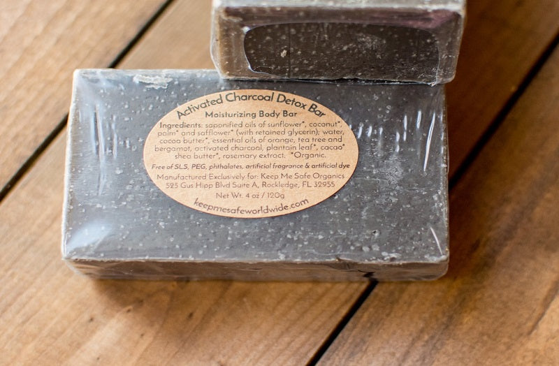 Activated Charcoal Detox Body Bar