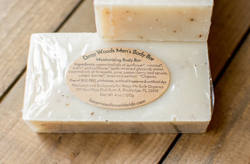 Deep Woods Men's Exfoliating Body Bar