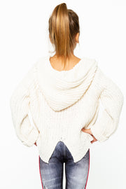 Hooded Crop Sweater for Tweens 7-14