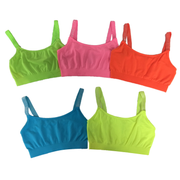 Band Bra Cami w/ Glitter Elastic Straps for Tweens 7-14