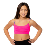 Band Bra Cami w/ Ombre Elastic Straps for Tweens 7-14