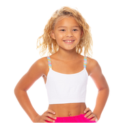 Band Bra Cami w/ Swirl Tie Dye Elastic Straps for Girls 10-14
