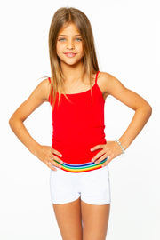 Boy Shorts w/ Rainbow Waist Elastic Band for Tweens 7-14