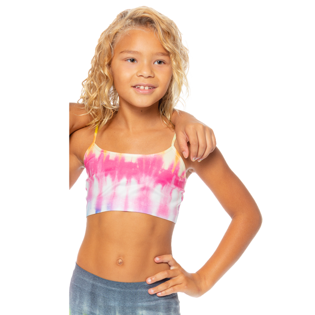 Charcoal Tie Dye Bandeau Bra Cami for Girls 10-14