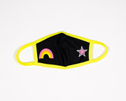 Tween Black Masks w/ Neon Embellishment