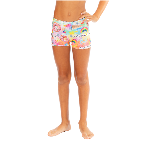 Tie Dye Friends Boy Shorts for Girls 7-10
