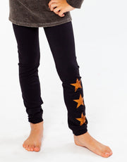 Matte Bronze Stars Solid Leggings for Little Girls 4-6x