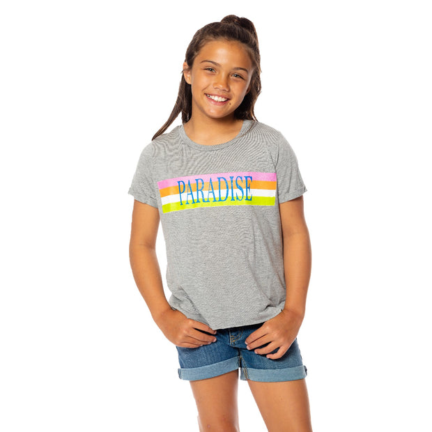 "SS Crop Tee- ""Paradise"" for Tweens 7-14"