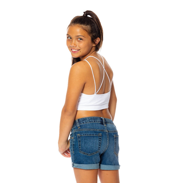 Criss Cross Back Bra Cami for Tweens 7-14