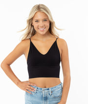 Ribbed V Crop Cami - Junior