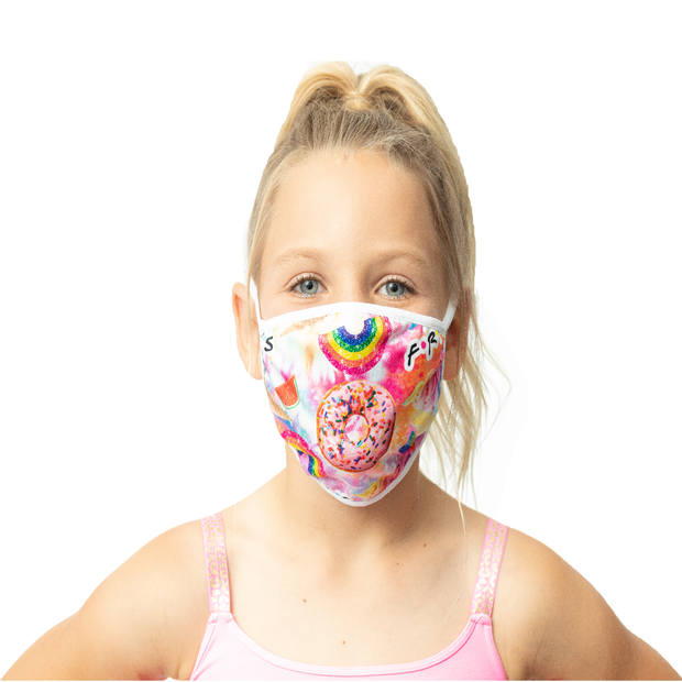 "Fashion KIDS Face Masks ""FRIENDS/SPLATTER PAINT"""