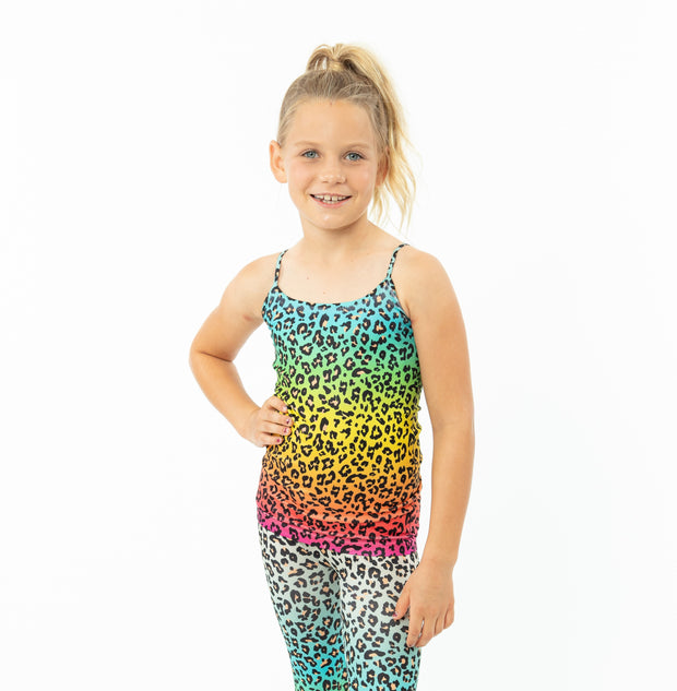 Ombre Leopard Full Cami for Little Girls 4-6x