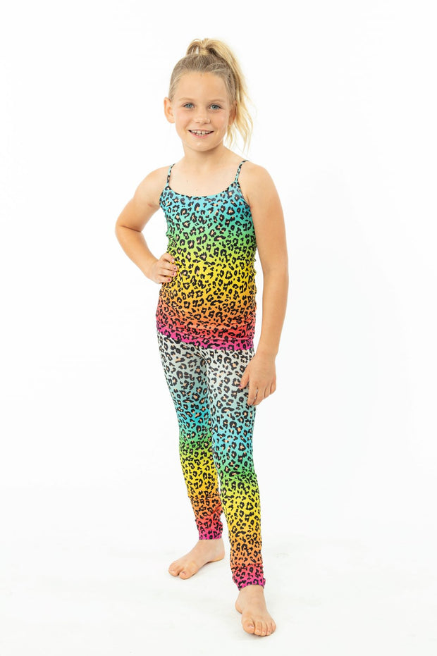 Ombre Leopard Leggings for Girls 7-10