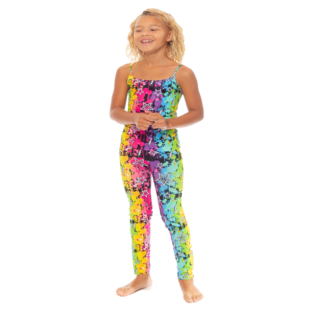 Splatter Paint Leggings for Girls 7-10