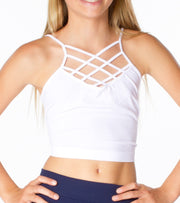 Cage Front Crop Cami for Tweens 7-14