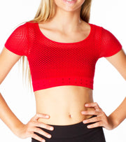 SS Cropped Mesh Top for Tweens 7-14