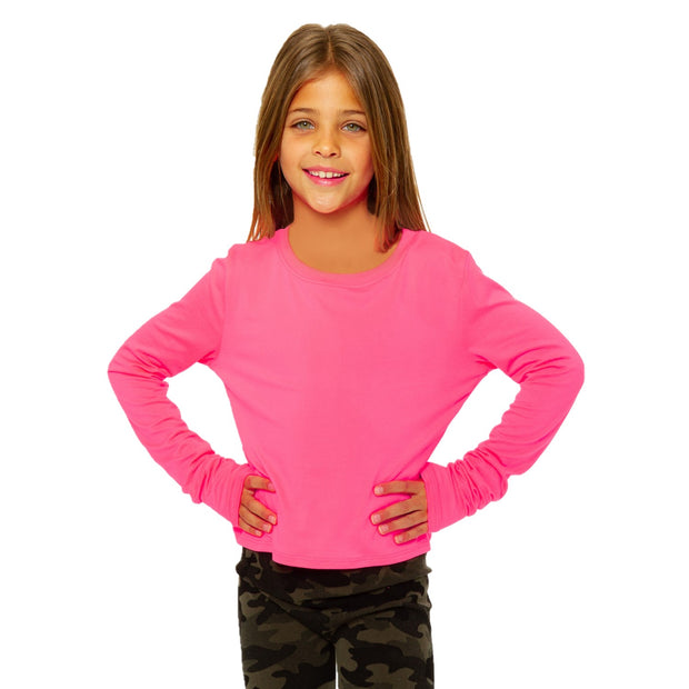Long Sleeve Neon Top for Tweens 7-14
