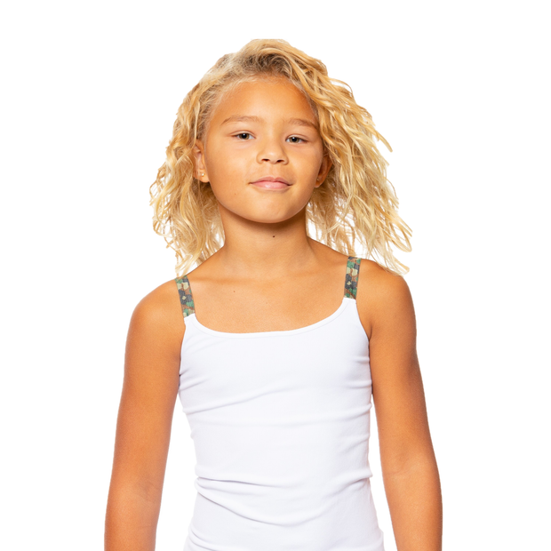 Full Cami w/ Camo Elastic Straps for Tweens 7-10