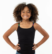 Full Cami w/ Neon Dots Elastic Straps for Tweens 7-10