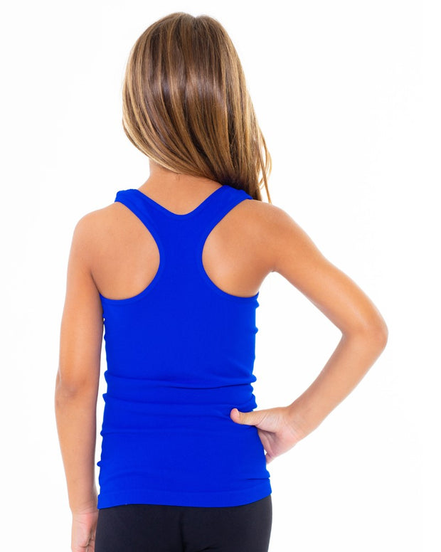 Ribbed Racer Back Tank Top for Tweens 7-10