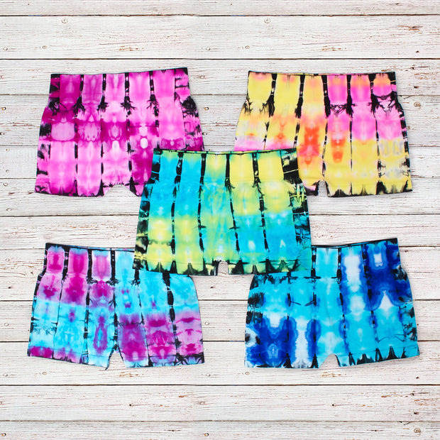 Bamboo Tie Dye Boy Shorts for Tweens 7-14