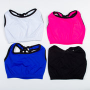Contrast Strappy Back Sport Bra for Tweens 7-14