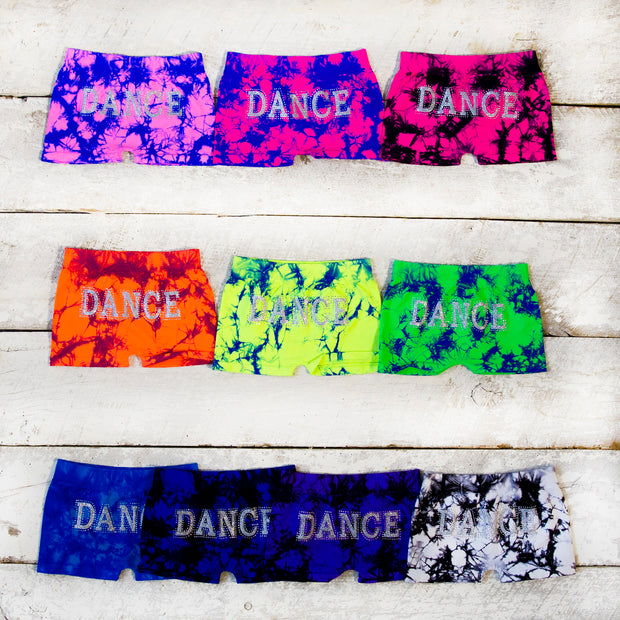 DANCE Tie Dye Boy Shorts