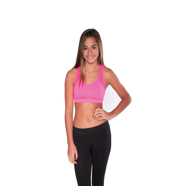 Fishnet Racer Back Bra Cami for Tweens 7-14