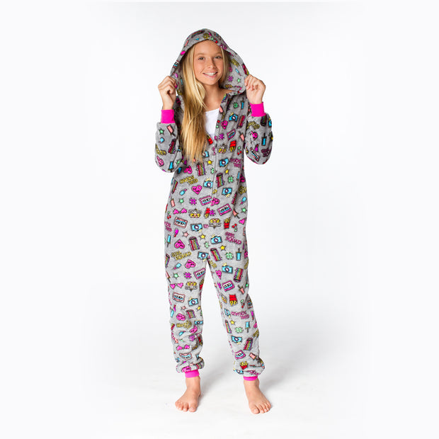 Girl Gang Plush Onesie Front