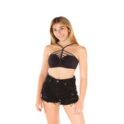 High Cage Neck Bra Cami for Tweens 7-14