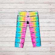 Malibu Sugar Tie Dye  Leggings for Little Girls