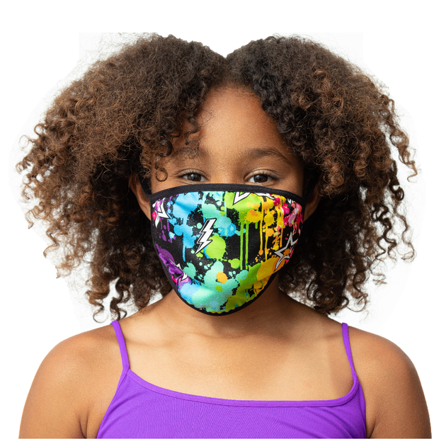 "Fashion KIDS Face Masks ""SPLATTER PAINT"""