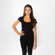 Short Sleeve Tee Seamless Tops for Teens and Women