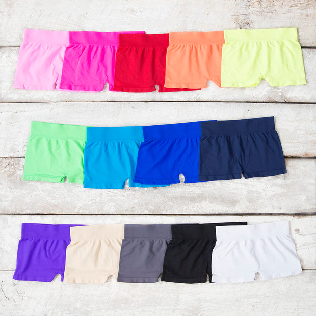 Solid Boy Shorts for Teens and Women