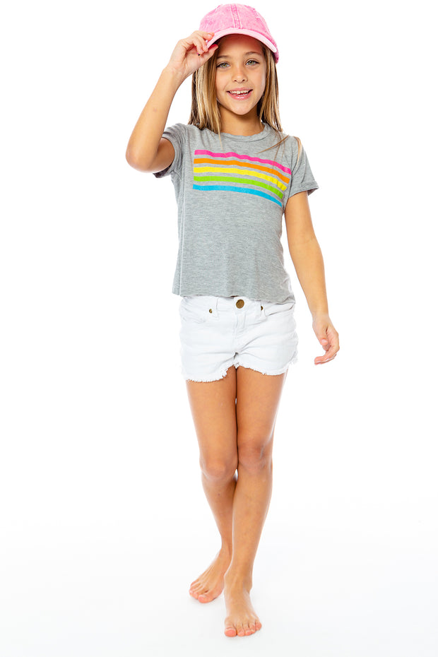 "SS Crop Tee - ""Wide Stripe"" for Little Girls 4-6x"