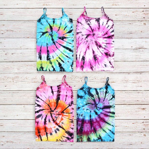 Tie Dye Full Length Cami for Tweens 7-10