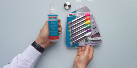 Cleaning Kit and Whiteboard Markers