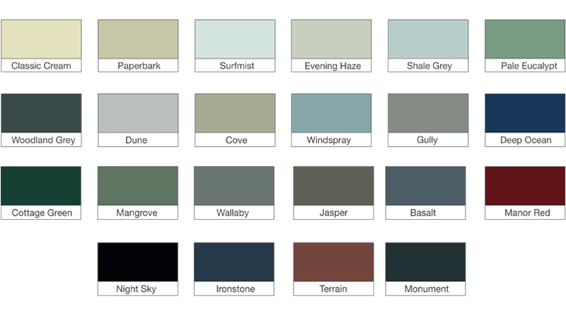 Klingshield Awning Colours