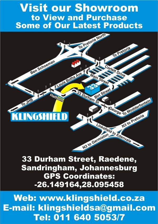 Map to Klingshield headoffice