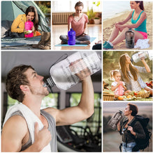 Load image into Gallery viewer, Fitness Sports Water Bottle with Motivational Time Marker